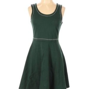 Rosie Harlow  Green Fit & Flare Silver Stud Dress
